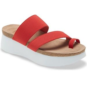 munro M511157 coral red fabric Aries sandal new